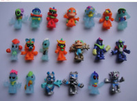 50PCS/lot small toy dolls 2.8cm high puppets,Kids toys, Alien doll collectible