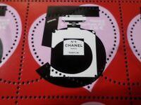 FRANCE 2021, CHANEL N° 5 timbre COEUR SAINT VALENTIN, HEART, 100 gr, neuf**, MNH