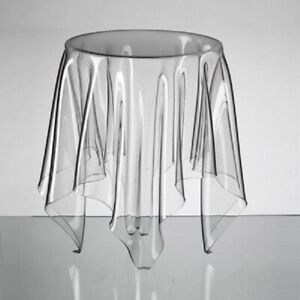 Transparent Coffee End Table Round Acrylic Table Desk Floating Indoor Furniture