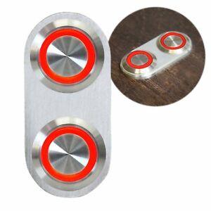 Daytona Billet Switch with RED LED Illumination - Single Switch AutoLoc hot rod