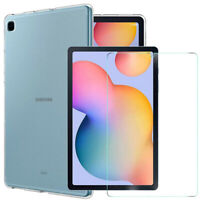 Clear TPU Shockproof Gel Case Samsung Galaxy Tab S6 Lite P610/P615 Cover & Glass