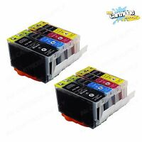 8 Pack Ink For Canon PGI5 CLI8 W/ Chip Pixma iP3300  iP3500  MP510 MP520 MX700