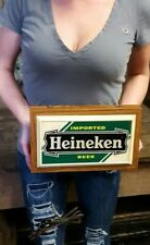Vintage Heineken Beer Sign wall sign bar working lighted Advertising Beer Sign