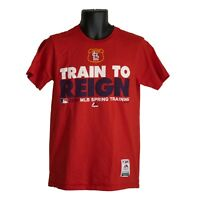 St. Louis Cardinals Train to Reign 2016 Majestic Mens T-Shirt Red Size M Medium