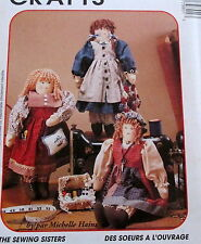 """Michelle Haines Sewing Sisters doll Pattern 18"""" Helper rag doll clothes"""