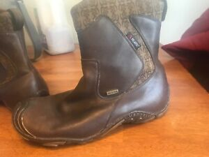 merrell forecast polartec waterproof brown leather boots womens size 8