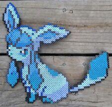 Glaceon Pokémon Pixel Art Perler Bead Art