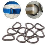10PCS Metal D Ring Webbing Belt Buckle Clasp Slide Handbag Purse Strap DIY