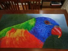 Lorikeet towel - large Australian bird towels