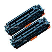 2pk Compatible CC530A 304A Black Toner Cartridge For HP LaserJet CM2320n CP2025