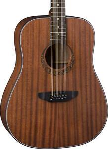 Luna Gypsy Mahogany, 12-String Acoustic Guitar - Satin Natural