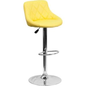 Flash Furniture Yellow Contemporary Barstool, Yellow - CH-82028A-YEL-GG
