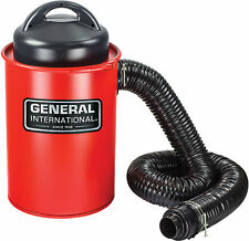 2-in-1 9A Portable 13 Gallon Dust Collector with Metal Dust Collection Drum Red