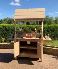 More details for prosecco/champagne cart style bar stand with glass holders portable bar mobile