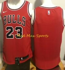 MICHAEL JORDAN Chicago BULLS Nike Red ERROR Icon Edition SWINGMAN Jersey M 44