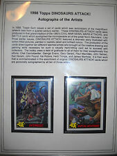 1988 DINOSAURS ATTACK COLLECTION (#58 OF 75) TOPPS WITH 10 ARTISTS AUTOGRAPHS