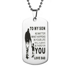 To My Son Dog Tags Love Dad - Necklace Pendant Gift for your Son Dog Tag Father