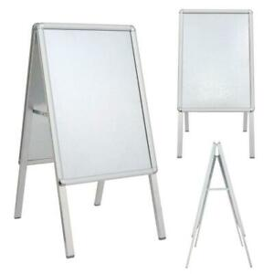NEW A1 A2 ALUMINIUM PAVEMENT POSTER SIGN A-BOARD FRAME SHOP DISPLAY STAND
