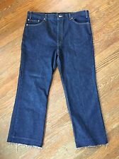 Levis 517 Boot Cut Unfinished Jeans - Dark Wash 42x29 Made In USA