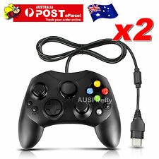 2x DualShock Gamepad Game Controller Joypad For Microsoft Original XBOX Black