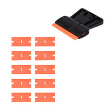"Mini Razor Blade Scraper 10 Two-Sided Plastic Painting Scraper Standard 1.5"" AUS"