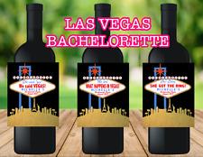 Set of 4 Las Vegas Themed Bachelorette Party Wine Labels - Waterproof
