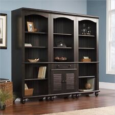 Antique Finish 3 Piece Library Bookcase Set Shelf Furniture Home Living Display