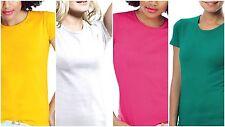 Damen Tops Body Shirts T-Shirts Basic Kurzarmshirts Unterhemden 36 38 40 42 NEU