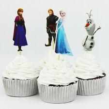 24Pcs Frozen Cupcake Pick/ Flag Toppers Birthday Wedding Party Cake