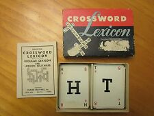 Crossword Lexicon Card Word Game 1938 Parker Bros. Alphabet Cards
