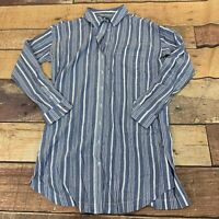 Athleta Womens Long Button Down Shirt Cover Up Size Small New NWOT I112
