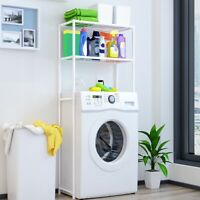 2-Layer Storage Shelf Rack for Bathroom Over Toilet Washing Machine Organizer US