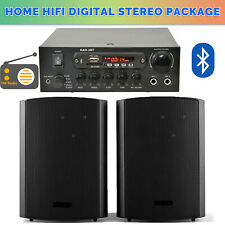 "6.5"" inch HiFi 120W Stereo Bluetooth Class D Amplifier Wall Bookshelf Speaker"