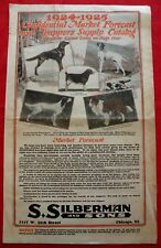 1924 Silberman's Trappers Supply Catalog Guns Knives Traps Fur Chicago