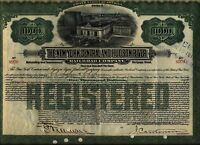 $1,000 New York Central & Hudson River Railroad Bond Stock Certificate A