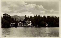 Bad Wiessee am Tegernsee alte Postkarte ~1930/40 Blick auf das Kurhaus Hubertus