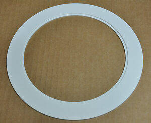 """6"""" INCH OVER SIZE TRIM RING WHITE GOOF RING FOR RECESSED CAN LIGHT  24 PACK"""