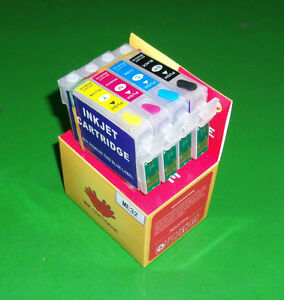 Refillable T1271 to T1274 Cartridges for NX-530 NX-625 WF-545 WF-630 WF-633