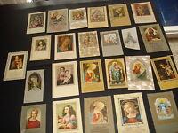 24 Estampas de la Virgen antiguas heiligenbild santino holy card 189