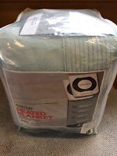 NEW Berkshire Velvet Soft Intellisense Electric Heated Queen Blanket Spa Blue