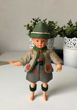 Vintage Hard Plastic, Celluloid? German Boy Small Doll Toy Collectable Souvenir