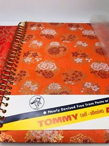 Vintage Tommy Japanese Silk Floral Asian Covered Photo Album Japan Unused FLAWED