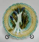 Antique Majolica Asparagus Plate 9.5