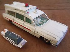 Dinky 437 Superior Ambulance on Cadillac Chassis Rare All White Free UK Post