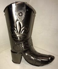 COWBOY BOOT-Hand Made ALUMINUM STATUE- Great For Planter, Man Cave, Cabin, Deco.
