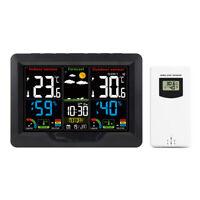 FanJu Color Weather Station Digital Clock Thermometer Hygrometer Barometer