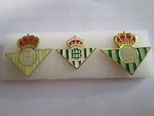 lotto 3 pins lot REAL BETIS BALOMPIE FC club spilla football calcio spille