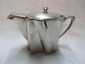 Vintage Art Deco Windsor Plaque Chile Silverplate Coffee or Tea Pot Vinson M.R.