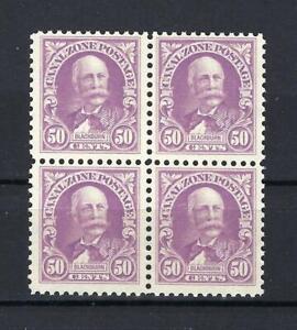 Canal zone 1928 Sc# 114 Blackburn 50 cents US block 4 MNH