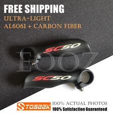 New Toseek bicycle MTB Aluminum Alloy & Carbon Fiber handlebar bar ends 22.2mm